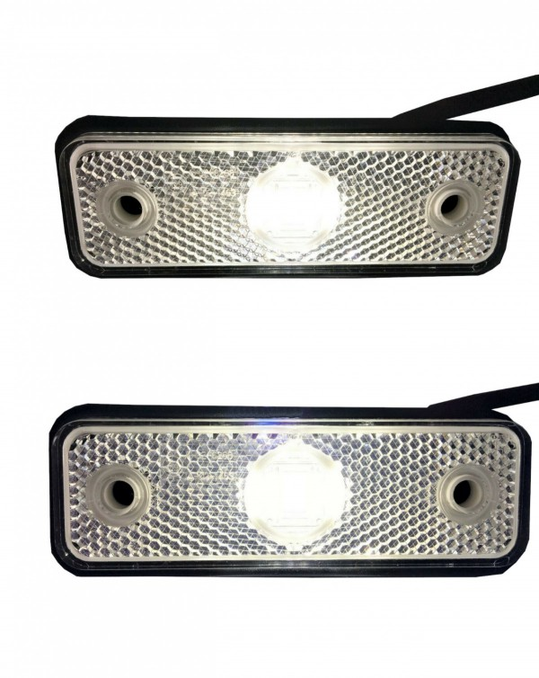 Umrissleuchte Begrenzungsleuchte wei/ß mit Halter mit Kabel 2x0,75 mm/² Anh/änger LKW Wohnwagen Nutzfahrzeuge Trailer